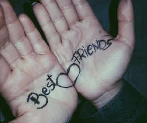 best friends, girls, and hands image