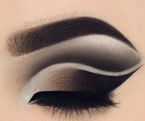beauty, eyes, and make image