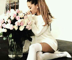 flowers, arianagrande, and roses image