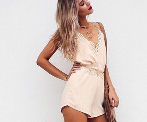 fashion, hair, and romper image