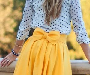fashion, skirt, and yellow image