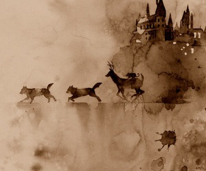 harry potter, hogwarts, and art image