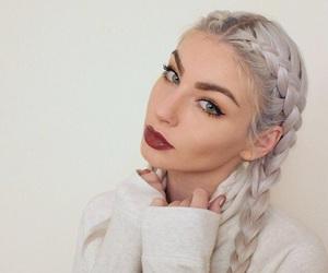hair, makeup, and braid image