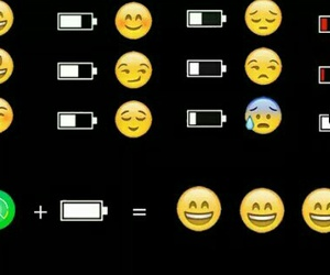 emojis, cute, and batery image