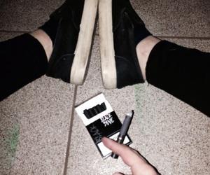 alone, bad, and cigarettes image