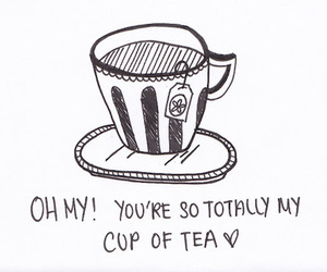 tea, love, and quote image