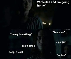 funny, arya stark, and game of thrones image