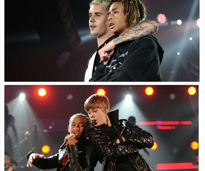 justin bieber, never say never, and jaden smith image