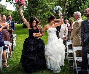 lesbian, beautiful, and wedding image