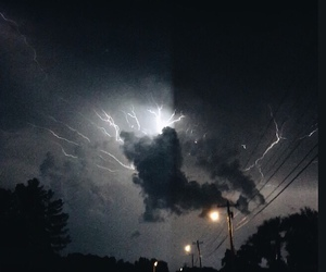clouds, storm, and lightning image