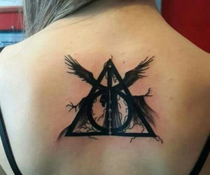 harry potter, magic, and tattoo image