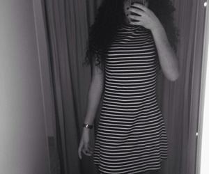 black, blackandwhite, and curls image