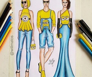 minions, art, and blue image