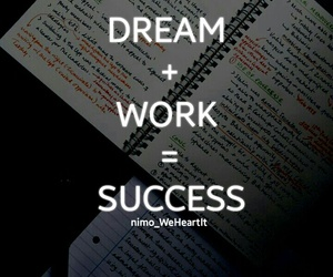 Dream, study, and success image