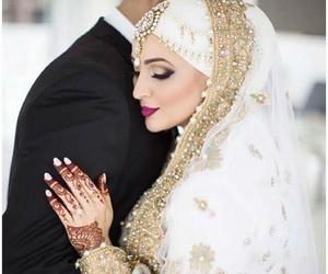 muslim, bride, and hijab image