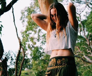 hippie, hippie girl, and good vibes image