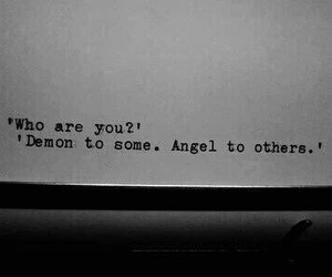 angel, quotes, and demon image