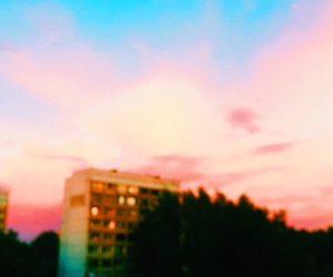clouds, sky, and закат image