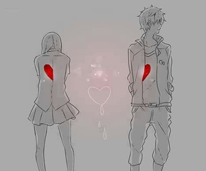 anime, heart, and couple image
