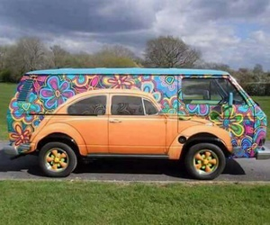 art, car, and hippie image