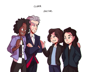 bill, doctor who, and clara oswald image
