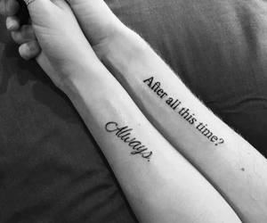 tattoo, harry potter, and always image