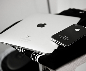 black, iphone, and white image