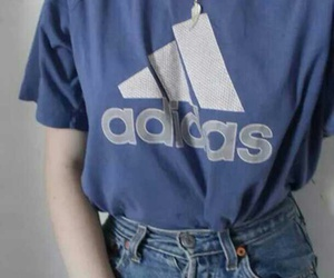 adidas, blue, and grunge image