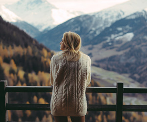 girl, mountains, and nature image