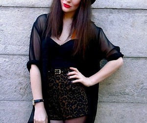 bustier, high waisted, and leopard image