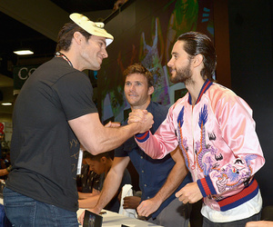 jared leto, comic con, and Henry Cavill image