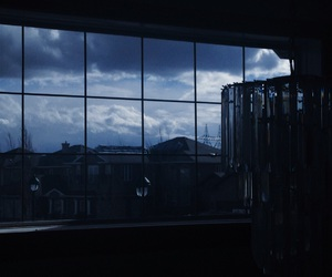 dark, blue, and sky image