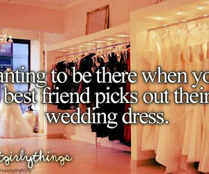 best friends, wedding, and dress image