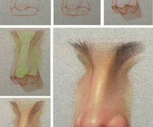 draw and nose. image