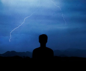 beauty, blue, and lightning image