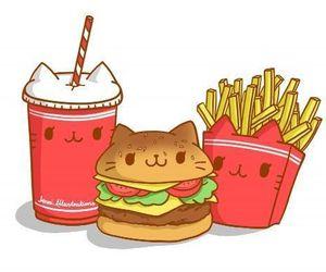 food, kawaii, and drawing image