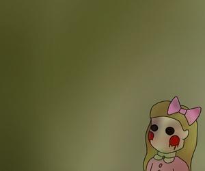 creepy, doll, and dollhouse image