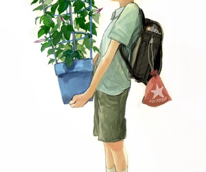 green plants, kageyama shigeo, and mob psycho 100 image
