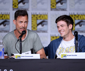 the flash, tom cavanagh, and grant gustin image