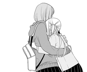 girl, manga, and friends image