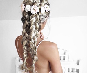 beautiful, girly, and blonde hair image