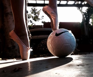 ballet, girl, and soccer image