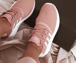 adidas, pink, and trainers image