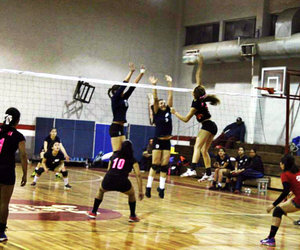 spike, volley, and volleyball image