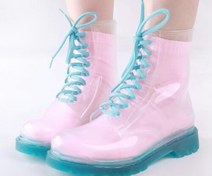 pink, blue, and shoes image