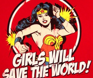girl, wonder woman, and girl power image
