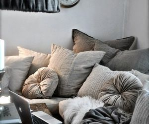 interior, pillow, and home image