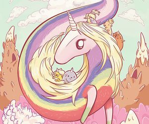 unicorn, adventure time, and lady rainicorn image