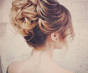 blonde, hair, and braid image