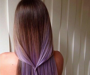 hair, purple, and brown image